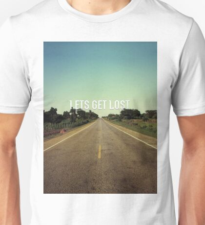Lets Get Lost - African Road Unisex T-Shirt