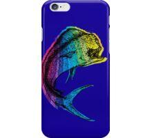 Rainbow Mahi Mahi on Ocean Blue iPhone Case/Skin