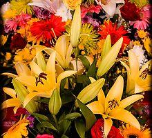 Cambodian Flower Arrangement by mlphoto
