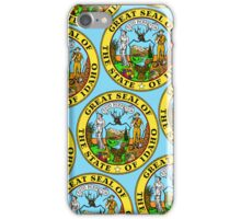 Smartphone Case - Great Seal of Idaho  - Light Blue iPhone Case/Skin