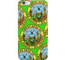 Smartphone Case - Great Seal of Idaho  - Green iPhone Case/Skin