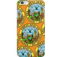 Smartphone Case - Great Seal of Idaho  - Orange iPhone Case/Skin