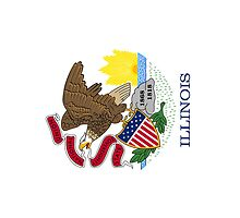 Smartphone Case - State Flag of Illinois - Vertical by Mark Podger