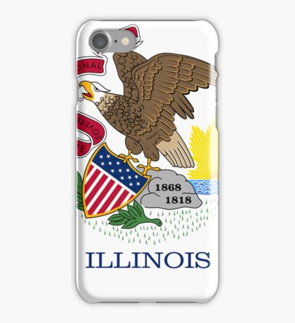 Smartphone Case - State Flag of Illinois - Abstract iPhone Case/Skin
