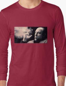 Tony Soprano with cigar Long Sleeve T-Shirt