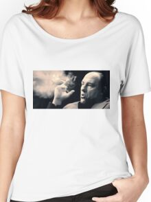Tony Soprano with cigar Women's Relaxed Fit T-Shirt