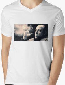 Tony Soprano with cigar Mens V-Neck T-Shirt