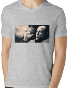Tony Soprano with cigar Mens V-Neck T-Shirt