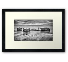 Beach Defences Framed Print