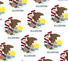 Smartphone Case - State Flag of Illinois - Patchwork Emblem by Mark Podger