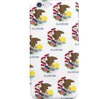 Smartphone Case - State Flag of Illinois - Patchwork Emblem iPhone Case/Skin