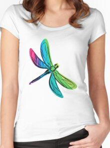 Rainbow Dragonfly Women's Fitted Scoop T-Shirt