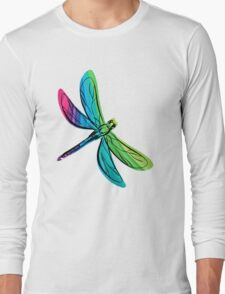 Rainbow Dragonfly Long Sleeve T-Shirt