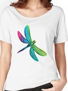 Rainbow Dragonfly Women's Relaxed Fit T-Shirt