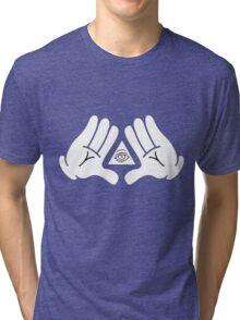 illuminati Mickey hands Tri-blend T-Shirt