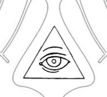 illuminati Mickey hands Sticker
