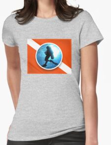 dive flag Womens Fitted T-Shirt