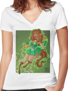 Fearie Pony Girl BBW Women's Fitted V-Neck T-Shirt