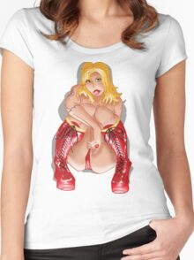 BBW Red Corset Boots  Women's Fitted Scoop T-Shirt