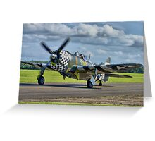 Snafu -Flying Legends 2012 - HDR Greeting Card