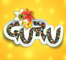 Guru Spiritual Floral Text Design by BluedarkArt
