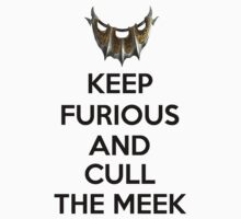 Keep Furious and Cull The Meek stickers by xmoonxhowlerx