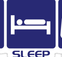Eat Sleep Game Sticker
