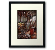Machinist - The modern workshop  Framed Print