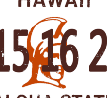 Lost License Plate Sticker