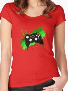 Box Graffiti Controller Women's Fitted Scoop T-Shirt