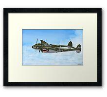Top Hatted Skull P-38 Lightning Framed Print