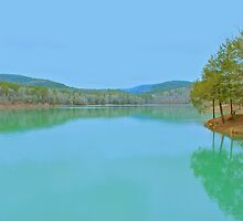 Shores Lake in the Ozarks of St. Francis  National Forest by NatureGreeting Cards ©ccwri