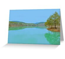Shores Lake in the Ozarks of St. Francis  National Forest Greeting Card