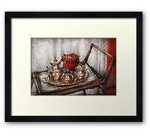 Barista - Tea Set - Morning tea  Framed Print