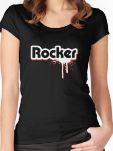 Rocker Graffiti Women's Fitted Scoop T-Shirt