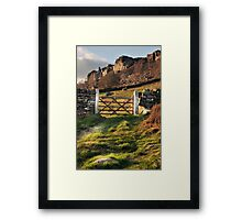 Gate at Curbar edge Framed Print