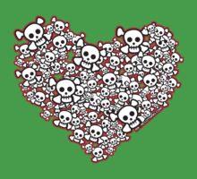 Emo Skull Hearts Kids Clothes
