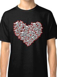 Emo Skull Hearts Classic T-Shirt