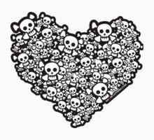 Emo Skull Love by rawrclothing