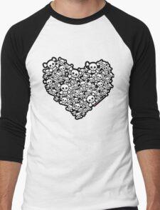Emo Skull Love Men's Baseball ¾ T-Shirt