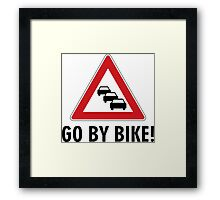 Go by bike! Framed Print
