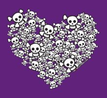 White Emo Skull Love by rawrclothing