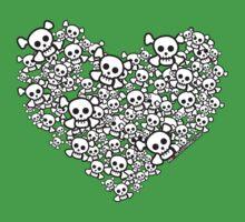 White Emo Skull Love Kids Clothes