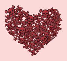 Cute Emo Skull Heart Kids Clothes