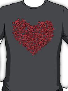 Cute Emo Skull Heart T-Shirt