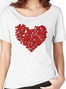 Cute Emo Skull Heart Women's Relaxed Fit T-Shirt