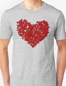 Cute Emo Skull Heart T-Shirt