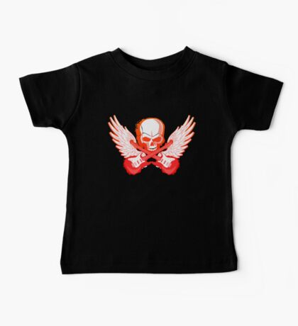 Rock Music Skull Guitar Baby Tee