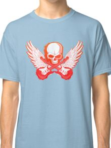 Rock Music Skull Guitar Classic T-Shirt