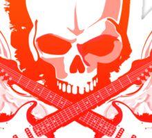 Rock Music Skull Guitar Sticker